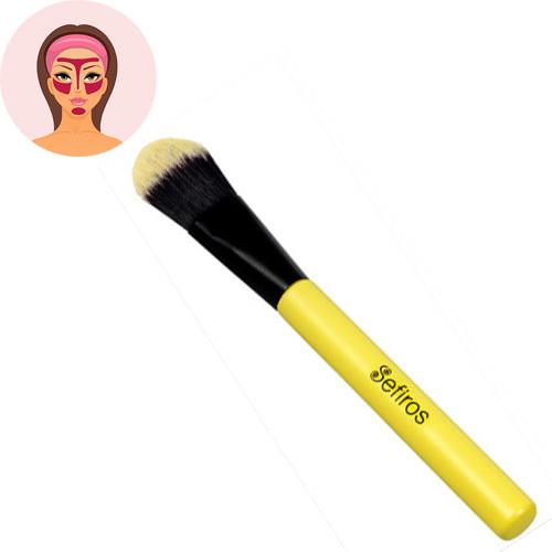 Sefiros Rovný štětec na make-up s rukojetí Pastell (Foundation Brush Pastell)