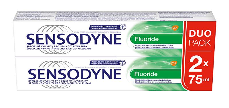 Sensodyne Fluoride zubní pasta Duopack 2 x 75 ml
