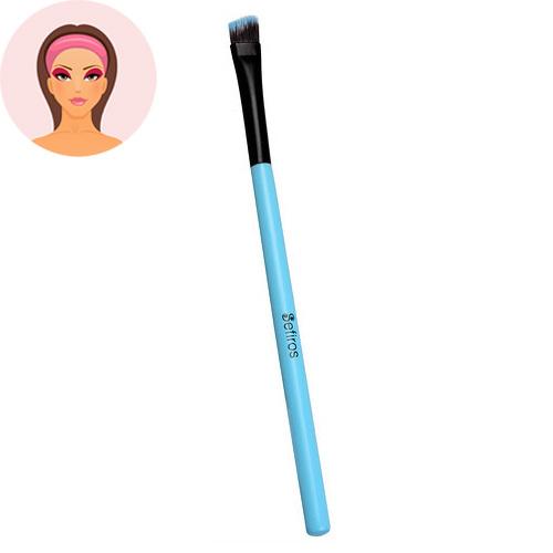 Sefiros Šikmý štětec na oční stíny malý s rukojetí Pastell (Eyeshadow Brush Pastell)