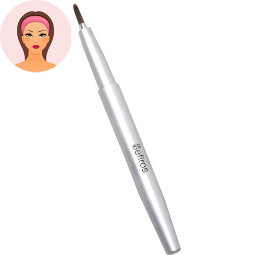 Sefiros Zatváracie štetec na pery Silver (Lip Brush Retractable)