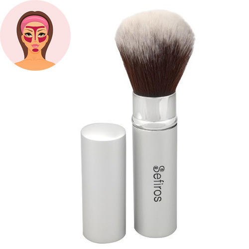 Sefiros Zatváracie štetec Silver (Retractable Brush)