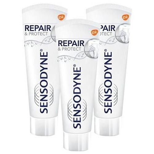 Sensodyne Zubní pasta Repair & Protect 3 x 75 ml