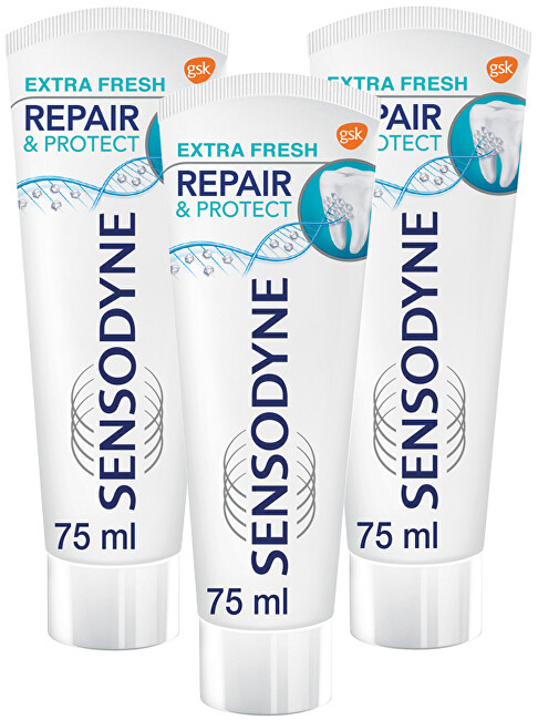 Sensodyne Zubná pasta Repair & Protect Extra Fresh 3 x 75 ml