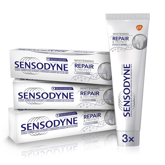 Sensodyne Zubná pasta Repair & Protect Whitening 3 x 75 ml