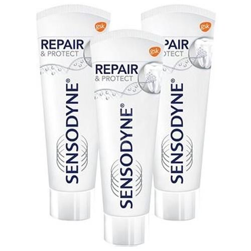 Sensodyne Zubní pasta Repair & Protect Whitening 3 x 75 ml