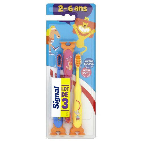 Signal Dětský zubní kartáček Kids Ultra Soft 3 ks