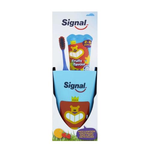 Signal Sada pre dokonale čisté zuby pre deti Fruity (zubní pasta + kartáček)