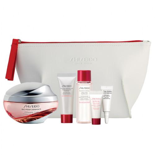 Shiseido Bio-Performance Skincare Kit krém proti vráskám 50 ml + čisticí pěna 15 ml + pleťová voda 30 ml + pleťové sérum 5 ml + oční krém 3 ml dárková sada