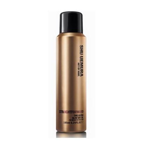 Shu Uemura Suchý olejový sprej na normální a hrubé vlasy (StraightForward Time-Saving Blow Dry Oil) 185 ml