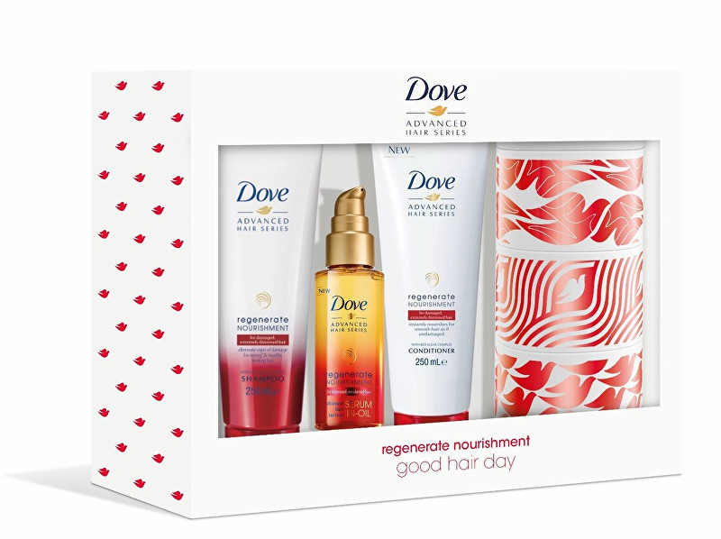 Dove Darčeková sada starostlivosť o vlasy Good Hair Day + plechová krabička - ZĽAVA - zašpinený obal