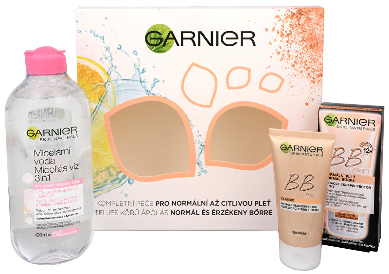 Garnier Dárková sada pro bezchybnou pleť Skin Naturals BB - SLEVA - poškozená krabička