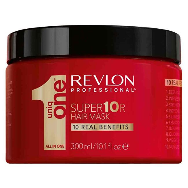 Uniq One Intenzivní hydratační super maska na vlasy (Super10R Hair Mask) 300 ml - SLEVA - poškozená krabička