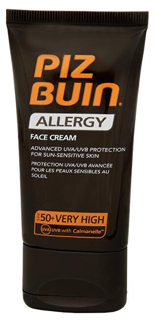 Piz Buin Krém na opalování na obličej SPF 50+ (Allergy Face Cream) 50 ml - SLEVA - bez krabičky