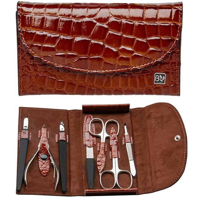 Belotty Luxusná kožená 7 dielna manikúra Damerino - ZĽAVA - poškodená krabička