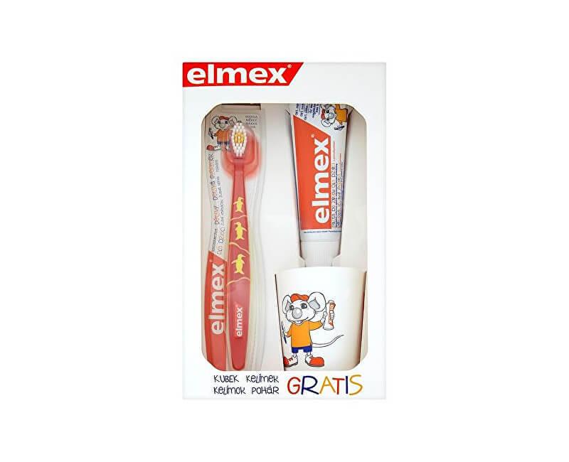 Elmex Sada pre dokonale čisté zuby pre deti ( Kids Set) - ZĽAVA - poškodená krabička