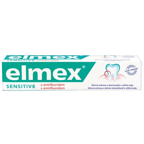 Elmex Zubní pasta Sensitive pro citlivé zuby 75 ml - SLEVA - poškozená krabička