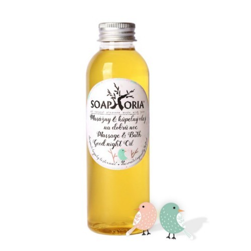 Soaphoria Organický masážní a koupelový olej na dobrou noc Babyphoria (Massage & Bath Good Night Oil) 150 ml