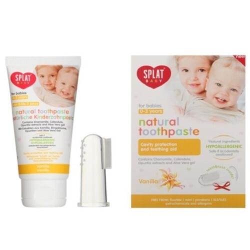 SPLAT Zubná pasta pre deti Vanilka Baby + prstový kefka 40 ml