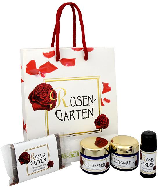Styx Rosengarten denní krém 50 ml + noční krém 50 ml + sprchový gel 30 ml + čokoláda 50 g + dárková taška dárková sada