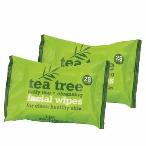XPel Čisticí ubrousky Tea Tree (Facial Wipes) 2x25 ks - SLEVA - chybí jedno balení