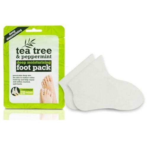 XPel Hydratační ponožky na nohy Tea Tree & Peppermint (Deep Moisturising Foot Pack) 1 pár