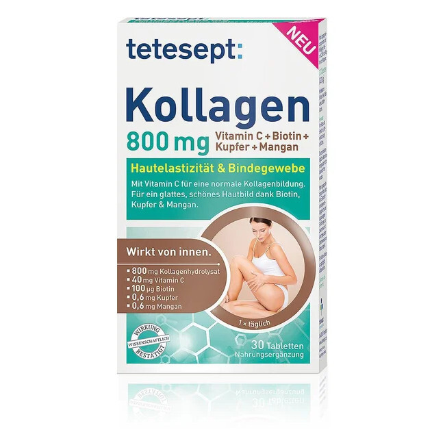 Tetesept Kollagen 800 mg 30 tabliet