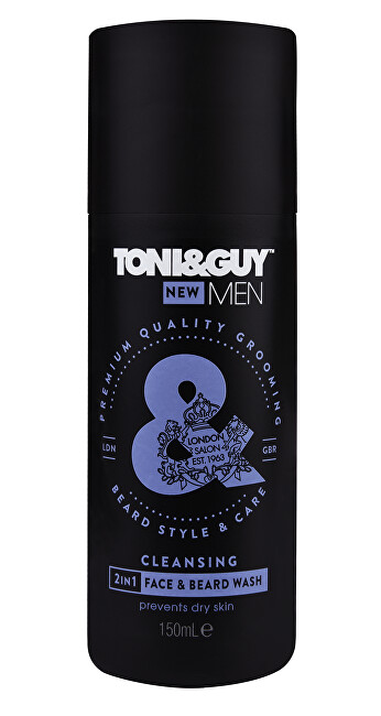 Toni&Guy Šampón na fúzy a tvár ( Clean sing 2-in-1 Face & Beard Wash) 150 ml