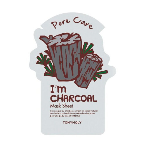 Tony Moly Čisticí pleťová maska s aktivním černým uhlím I´m Real (Pore Care Charcoal Mask) 21 g