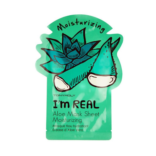 Tony Moly Hydratační pleťová maska s aloe vera I´m Real (Aloe Moisturizing Mask) 21 g