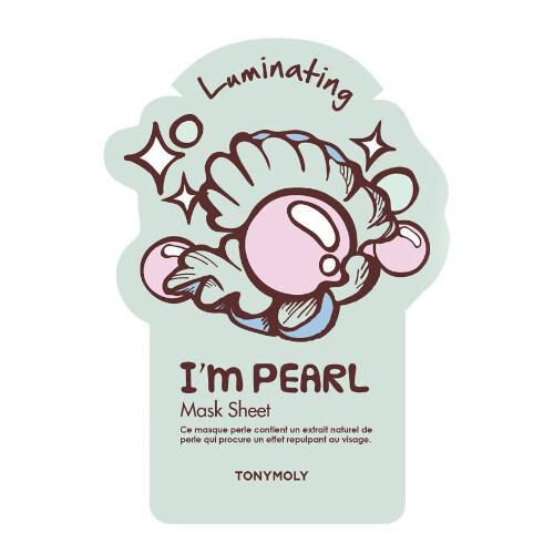 Tony Moly Rozjasňující pleťová maska s perlovým výtažkem I´m Real (Luminating Pearl Mask) 21 g