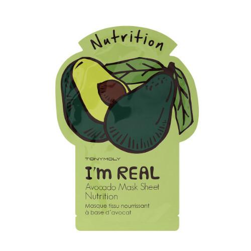 Tony Moly Vyživující pleťová maska I´m Real (Avocado Nutrition Mask) 21 g