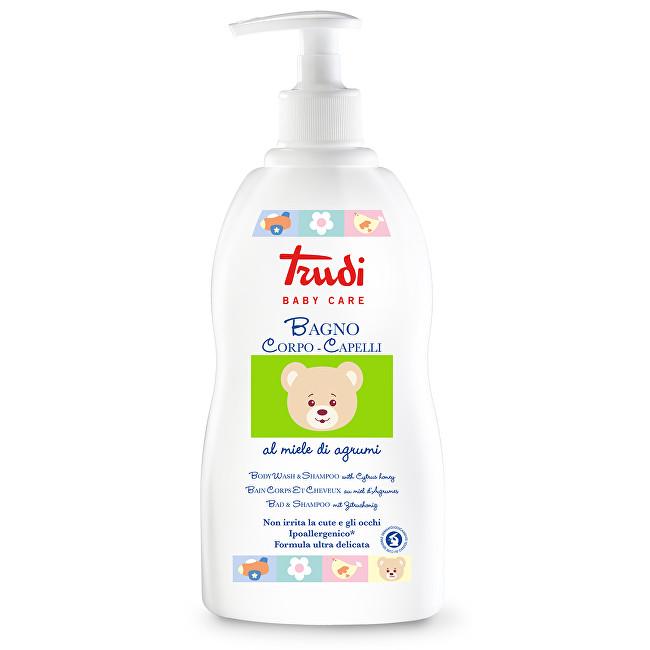 Trudi Dětské koupelové mléko a šampon s medem z citrusů 500 ml