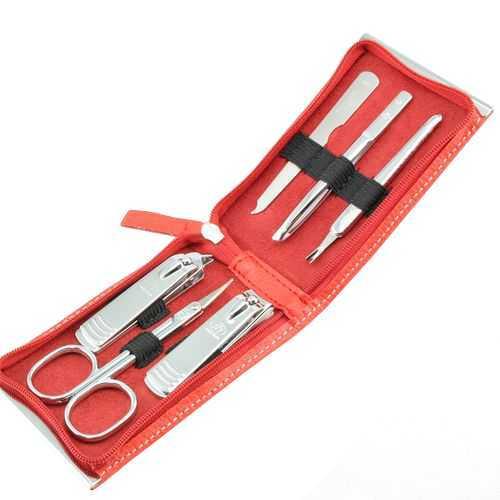 Three Seven Manikúrní set Red - 6 nástrojů