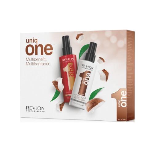 Uniq One Multibenefit Unikátní vlasová kúra 150 ml + Kokosová vlasová kúra 150 ml dárková sada