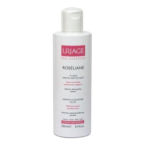 Uriage Dermo-čisticí fluid pro citlivou pleť se sklonem k začervenání Roséliane (Dermo-Cleasing Fluid) 250 ml