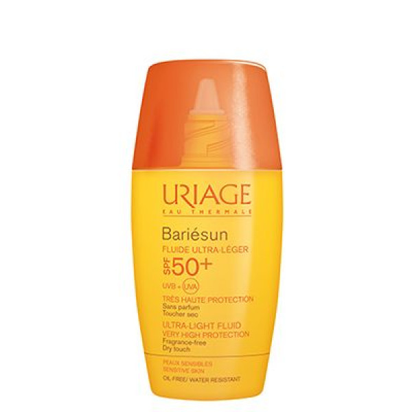 Uriage Opalovací ultralehký fluidní krém SPF 50+ Bariésun (Ultra Light Fluid Very High Protection) 30 ml