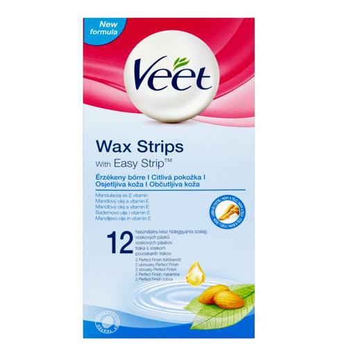 Veet Studené voskové pásky pro citlivou pokožku 12 ks