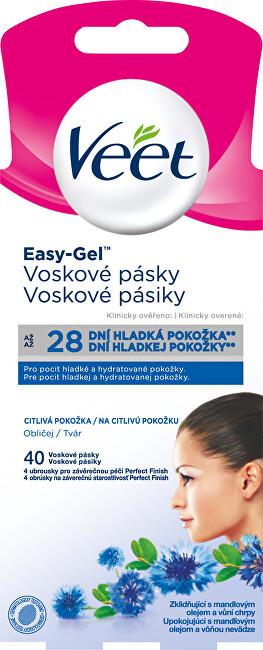 Veet Voskové pásky na obličej pro citlivou pokožku 40 ks