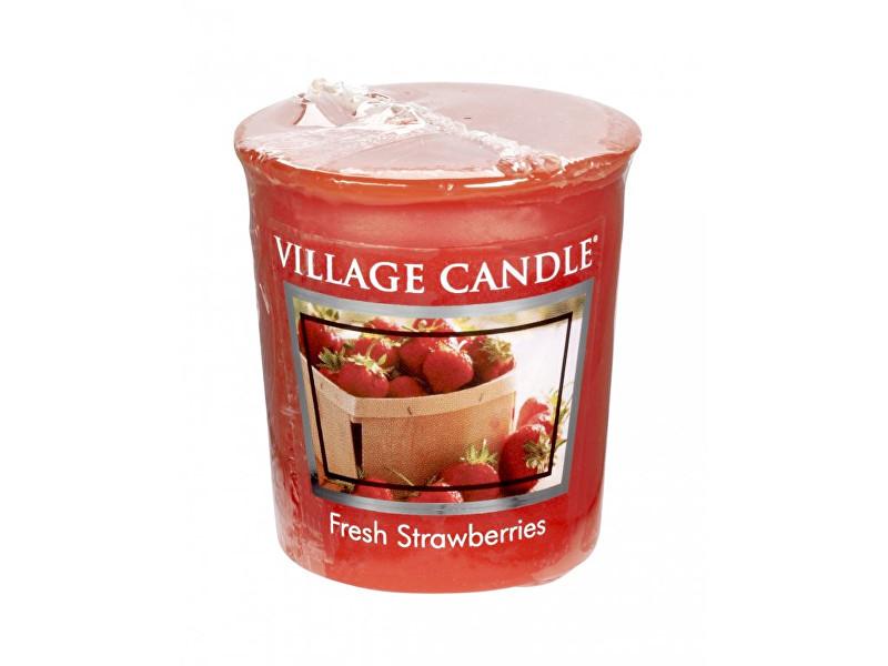 Village Candle Aromatická votivní svíčka Čerstvé jahody (Fresh Strawberries) 57 g