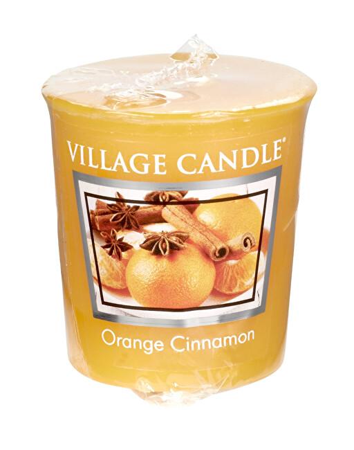 Village Candle Aromatická votivní svíčka Pomeranč a skořice (Orange Cinnamon) 57 g