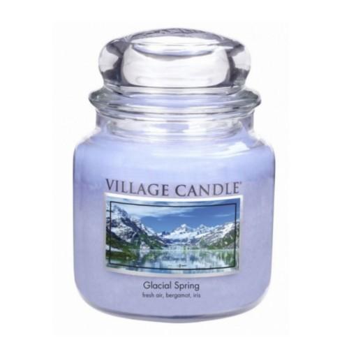 Village Candle Dekorativní vonná svíčka ve skle Ledovcový vánek (Glacial Spring) 397 g