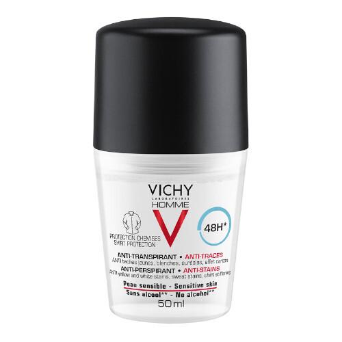 Vichy Deodorant roll-on pentru bărbați cu efect de 48 ore Homme 50 ml