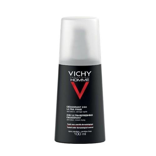 Vichy Antiperspirant spray împotriva transpirației excesive 24 ore Homme ( Ultra Refreshing Deodorant) 100 ml