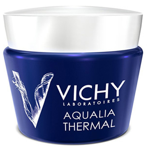 Vichy Intenzivní noční péče proti známkám únavy Aqualia Thermal Night Spa (Replenishing Anti-Fatigue Cream-Gel) 75 ml