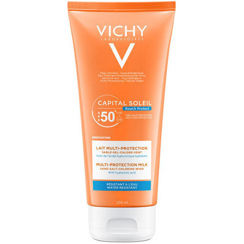 Vichy Multi protekčné hydratačné mlieko SPF 50  Capital Soleil Beach Protect (Multi-Protection Milk) 200 ml