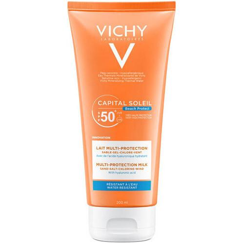 Vichy Multi protekční hydratační mléko SPF 50+ Capital Soleil Beach Protect (Multi-Protection Milk) 200 ml