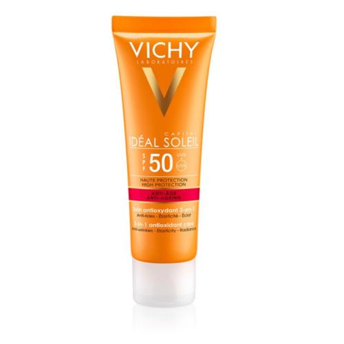 Vichy Protivráskový krém na opaľovanie SPF 50+ Idéal Soleil Anti-Age 50 ml
