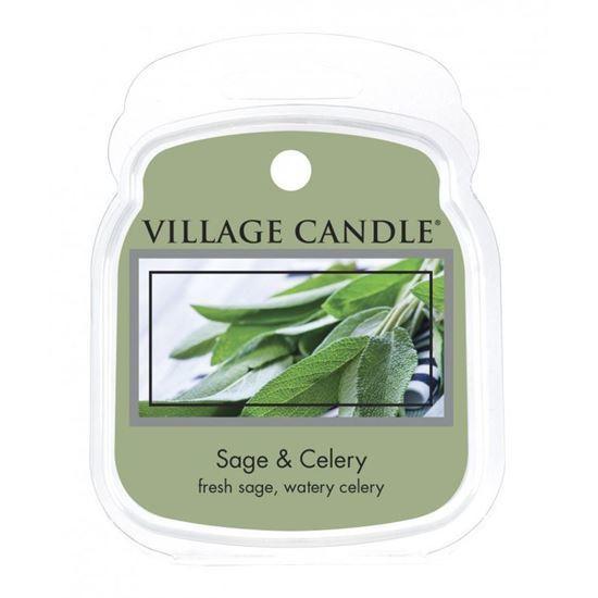 Village Candle Rozpustný vosk do aromalampy Svěží šalvěj (Sage Celery) 62 g