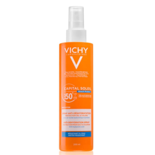 Vichy Sprej proti dehydratácii pokožky SPF 50  Capital Soleil Beach Protect (Anti-Dehydration Spray) 200 ml