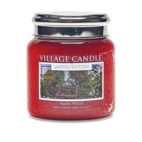 Village Candle Vonná sviečka v skle Apple Wood 390 g